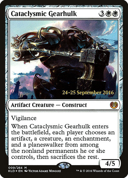 Cataclysmic Gearhulk [Kaladesh Promos]  | My Pop Culture | New Zealand
