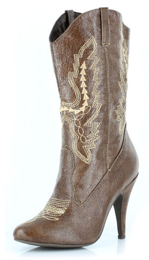 Women's western cowgirl boots with 4 inch stiletto heels 418-COWGIRL