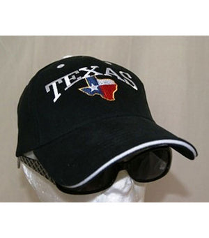 5319 black cap with Texas embroidered in red, white and blue