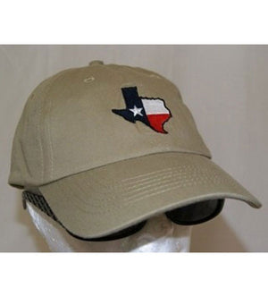 RF-5317 Texas Map Khaki Cap