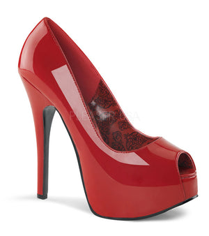 Teeze-22 red peep toe pump high heel shoes