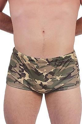 Camouflage men's brief swimsuit ST315