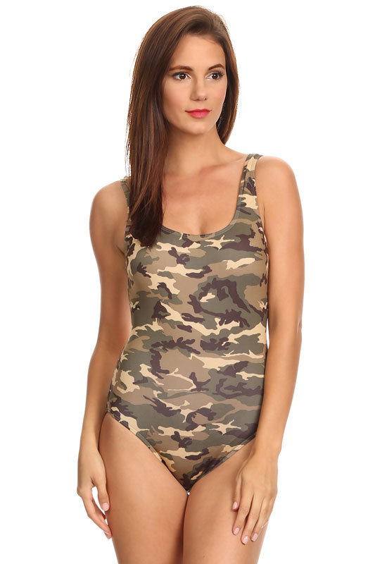 Camouflage One-Piece Swimsuit