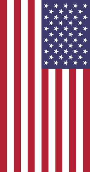 TW-122 LARGE American Flag Beach Towel 40x70