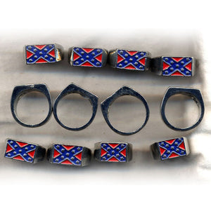 WC-RHMR Rebel Flag Men's Heavy Metal Ring