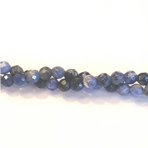 "GM-0223 - Sodalite Faceted 4mm Gemstone Bead Strand | 16"" Strand"