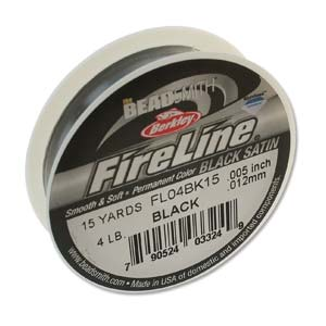 FL04BK15 - 4 Lb Fireline Black .005 In/.12mm Dia 15 Yrd | Pkg 1