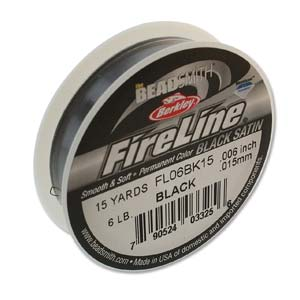 FL06BK15 - 6 Lb Fireline Black .006In/0.15mm 15 Yrd | Pkg 1