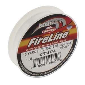 FL06CR15 - Fireline Thread 6Lb Crystal 0.006In/0.15mm 15 Yard | Pkg 1