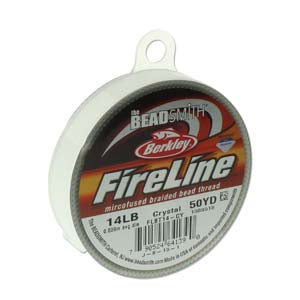 FL14CR50 - 14 Lb Fireline Beading Thread, Crystal .009 In/.22mm Dia 50 Yrd | Pkg 1