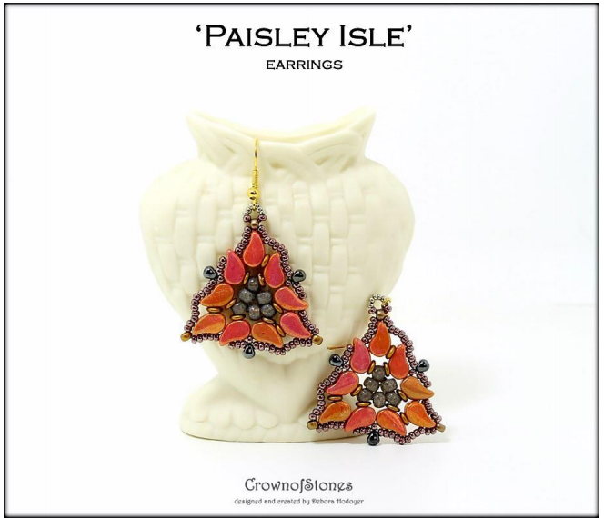 #PDF-474 Paisley Isle Earrings