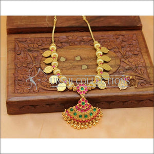 Designer Gold plated Kempu Lakshmi Necklace Set UC-NEW2752 - Multi - Necklace Set