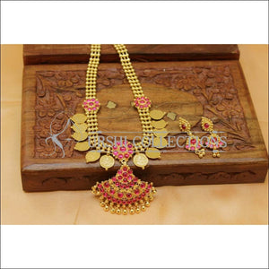 Designer Gold plated Kempu Lakshmi Necklace Set UC-NEW2755 - Necklace Set