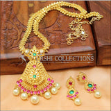 Designer Gold Plated Kempu Necklace Set UC-NEW222 - Necklace Set