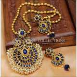Designer Gold Plated Pendant Set UC-NEW2715 - Blue - Pendant Set