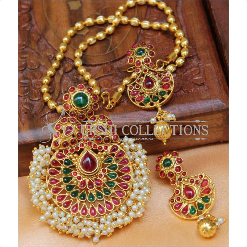 Designer Gold Plated Pendant Set UC-NEW2715 - Multi - Pendant Set