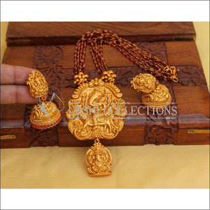 Designer Matte Finish Ganesha Necklace Set UC-NEW2648 - Necklace Set