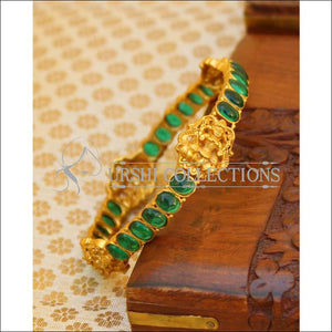 Designer Matte Finish Lakshmi Bangle UC-NEW1678 - Green - Bangles