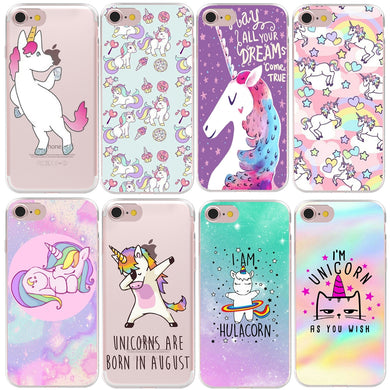 Hard Plastic Unicorn Case Cover For Apple iPhone XS Max XR 8 7 X 6 Plus 5 5S SE - Phone - TheGeekLeak.com