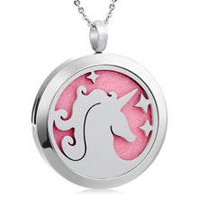 Load image into Gallery viewer, Unicorn Stainless Steel Oil Diffuser Pendants with Pads - Jewelry - TheGeekLeak.com