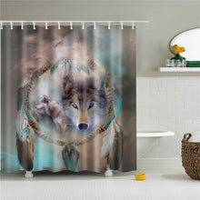 Load image into Gallery viewer, Wolf Shower Curtain - High Quality Waterproof Woven Polyester for Bathroom with Hooks - Decor - TheGeekLeak.com
