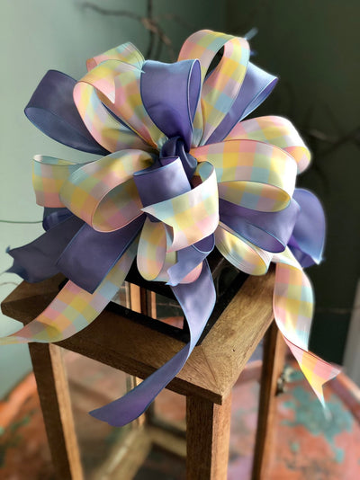 The Penelope Pink and Lavender Bow For Wreaths & Lanterns~Easter decor~spring mailbox decoration~swag adornment~unique party supply