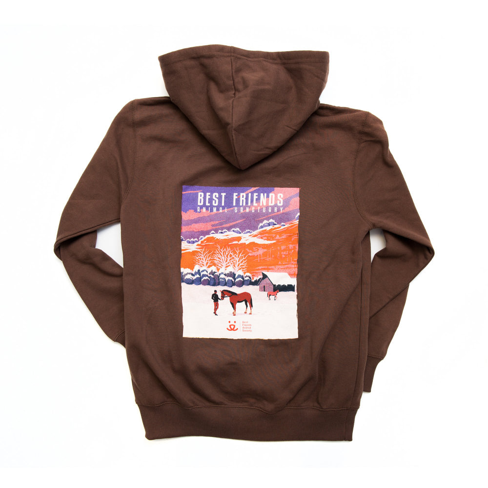 Sanctuary Art Hoodie, Winter Horse