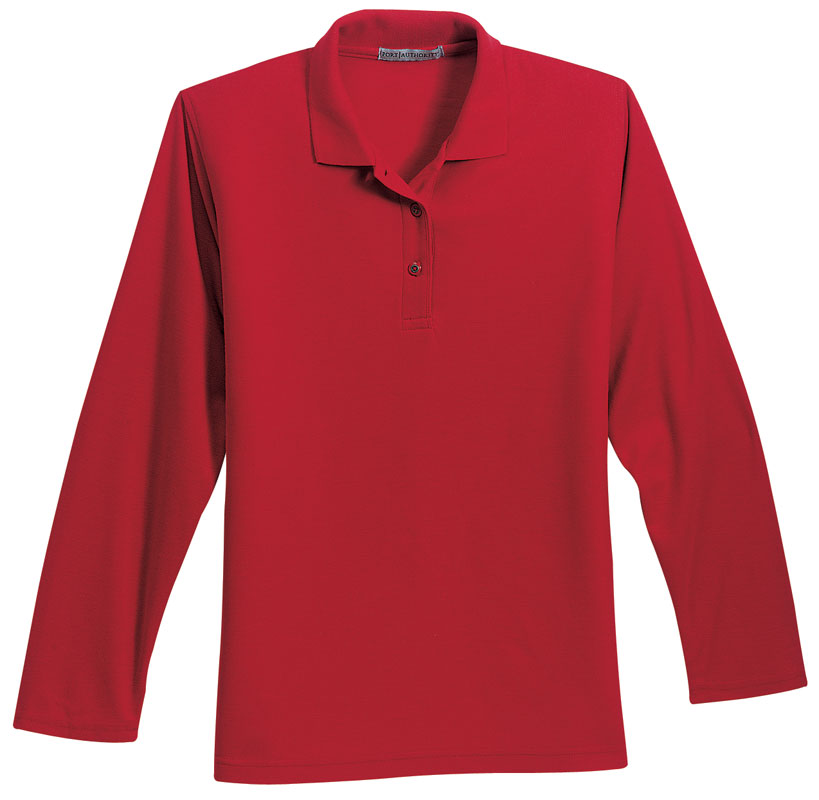 Ladies Long Sleeve Silk Touch Polo Shirt