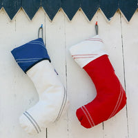 Sailor Bags Sailcloth Christmas Stockings - Custom Embroidery