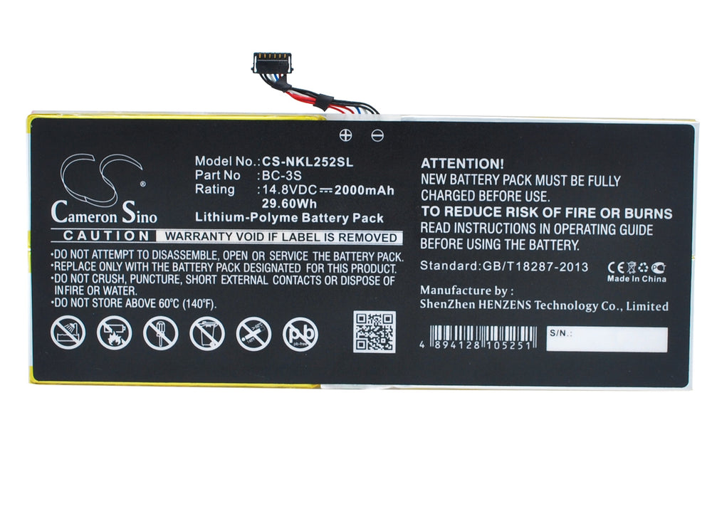 Battery for Nokia Lumia 2520