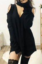 Load image into Gallery viewer, Sexy Deep V Collar Plain Sweater