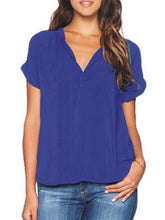 Load image into Gallery viewer, V Neck  Plain Blouses
