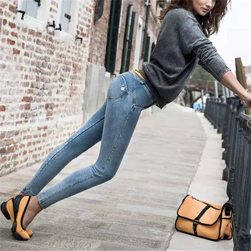 Jeans With Peach Bottom Show Thin Yoga Pants