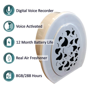 Air Freshener Voice Activated Recorder