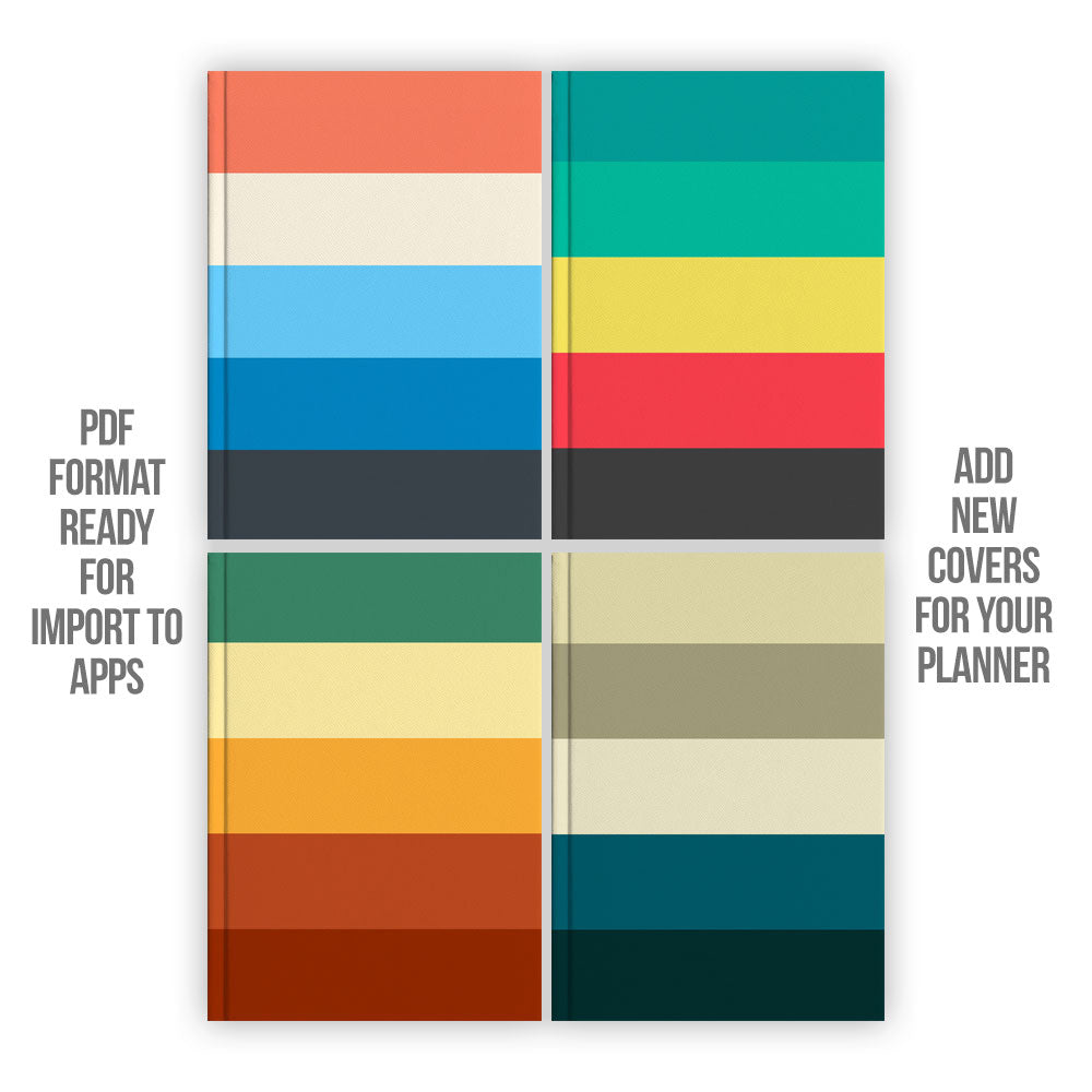 Colours Digital Planner covers - Goodplanr