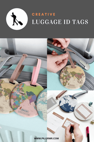 World Map Luggage Tag