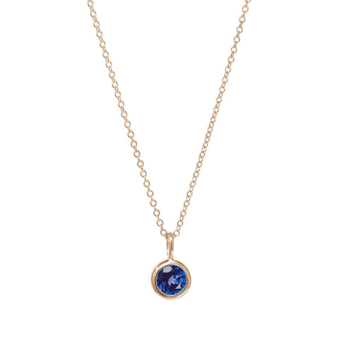 September Birthstone Necklace - Sapphire