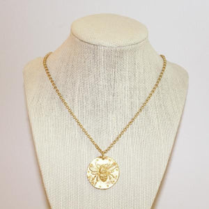 Bee Coin Necklace