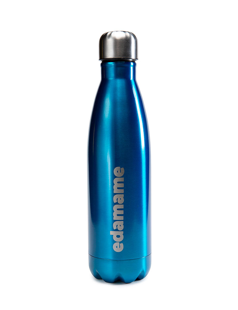 Edamame Blue Stainless Steel Water Bottle