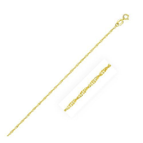 10k Yellow Gold Singapore Chain 1.0mm, size 16''