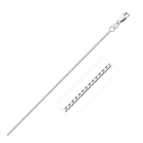 14k White Gold Octagonal Box Chain 1.0mm, size 16''