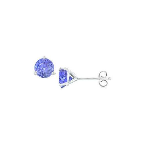 Sterling Silver Martini Style Cubic Zirconia Stud Earrings with 1.00 CT TGW