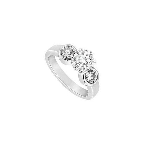 Semi Mount Engagement Ring in 14K White Gold with 0.10 Ct. Diamonds Not Included Center Diamond