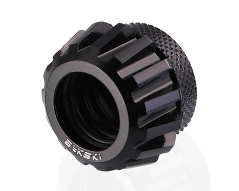 Bykski Rigid 14mm OD Fitting Gears Style - Black (B-FSIHTJ-AL)