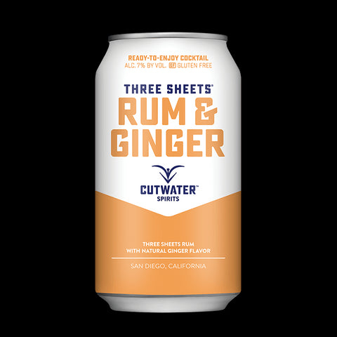 Three Sheets Rum & Ginger (4 Pack - 12 Ounce Cans)