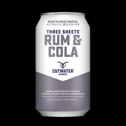 Three Sheets Rum & Cola (4 Pack - 12 Ounce Cans)