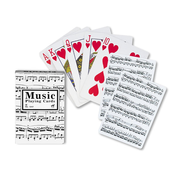 Sheet Music Playing Cards - White