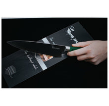 8-Inch Chef's Knife Set with Finger Protector & Ergonomic Wood Handle Kitchen Knives