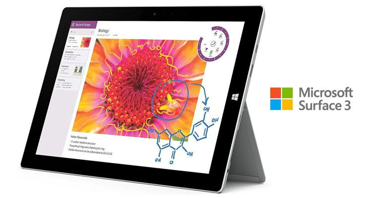 Microsoft Surface 3 Tablet with 10.8