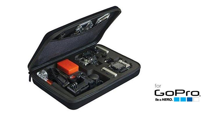 Custom Case for GoPro Hero 1, 2, 3 & 4 Black/Silver Action Camera Camera Bags & Cases